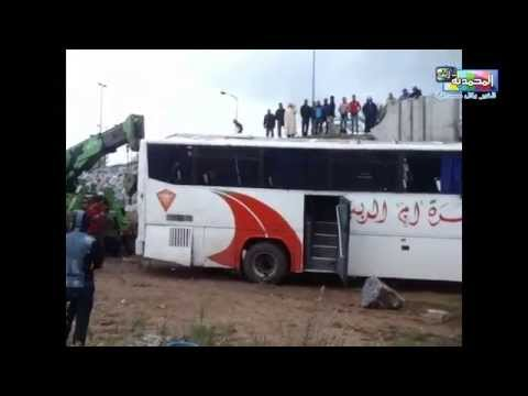سقوط حافلة ركاب من أعلى قنطرة واد المالح بالمحمدية