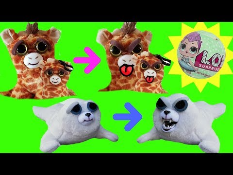 Feisty Pets Toy Surprises Giraffe Baby Bunny Rabbit Seal Crazy Teeth   Fizzy Toy Show