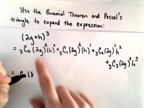 Die Binomialsatz und Pascal  's Triangle