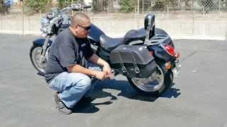 7. Kawasaki Vulcan Mean Streak motorcycle saddlebags Review Viking Bags