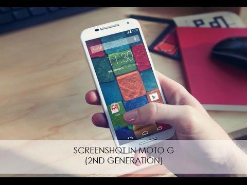 how to take screenshot in moto g2