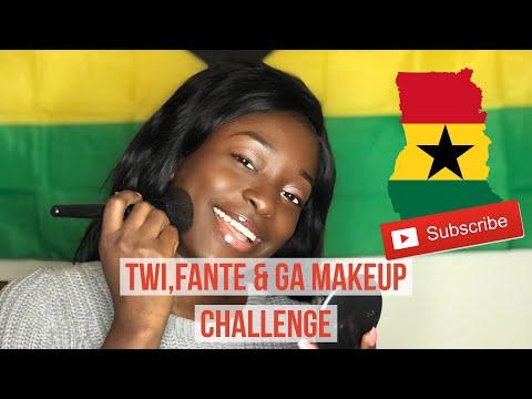 Twi, Fante & Ga Makeup Challenge😁