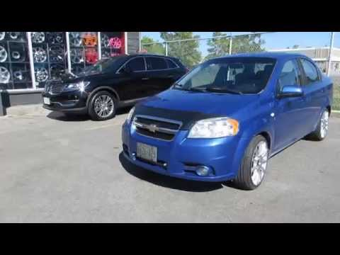 HILLYARD RIM LIONS 2010 CHEVROLET AVEO RIDING ON CUSTOM 17 INCH RIMS & TIRES