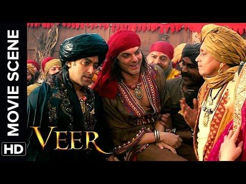 Salman wrestles with Mithun | Veer | Movie Scene