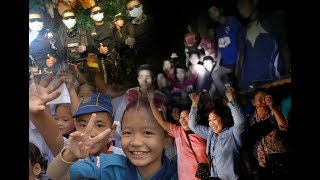 Video Mission accomplished: World cheers Thai cave rescue MP3, 3GP, MP4, WEBM, AVI, FLV Agustus 2018