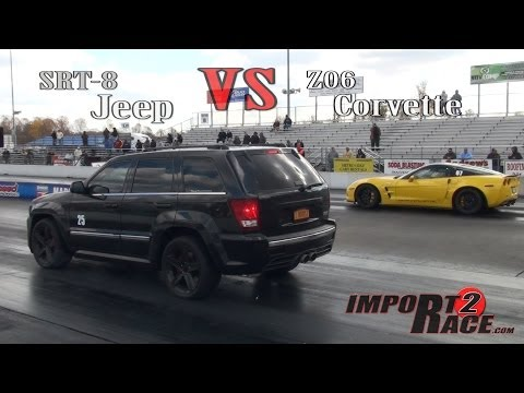 SRT8 Jeep vs. Z06 Corvette