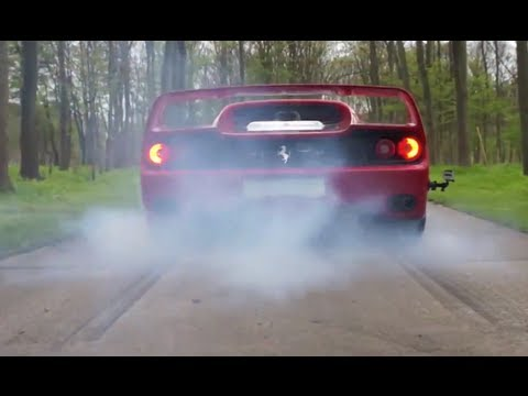 ferrari f50 burnout