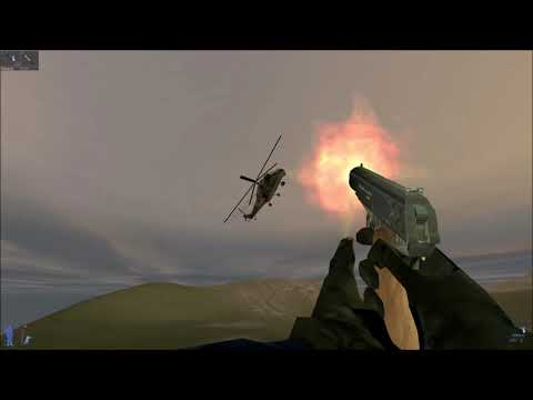 riding on a secret helicopter in IGI 2 mission''' border crossing''