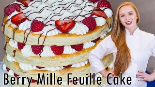 Berries & Cream Mille Feuille Cake by Tatyana's Everyday Food