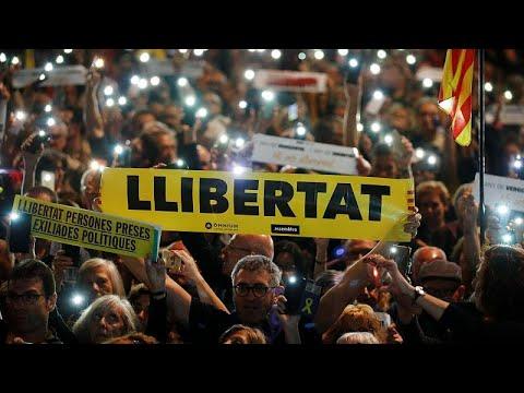Βαρκελώνη: Ζητούν την απελευθέρωση των κρατούμενων αυτονομιστών…