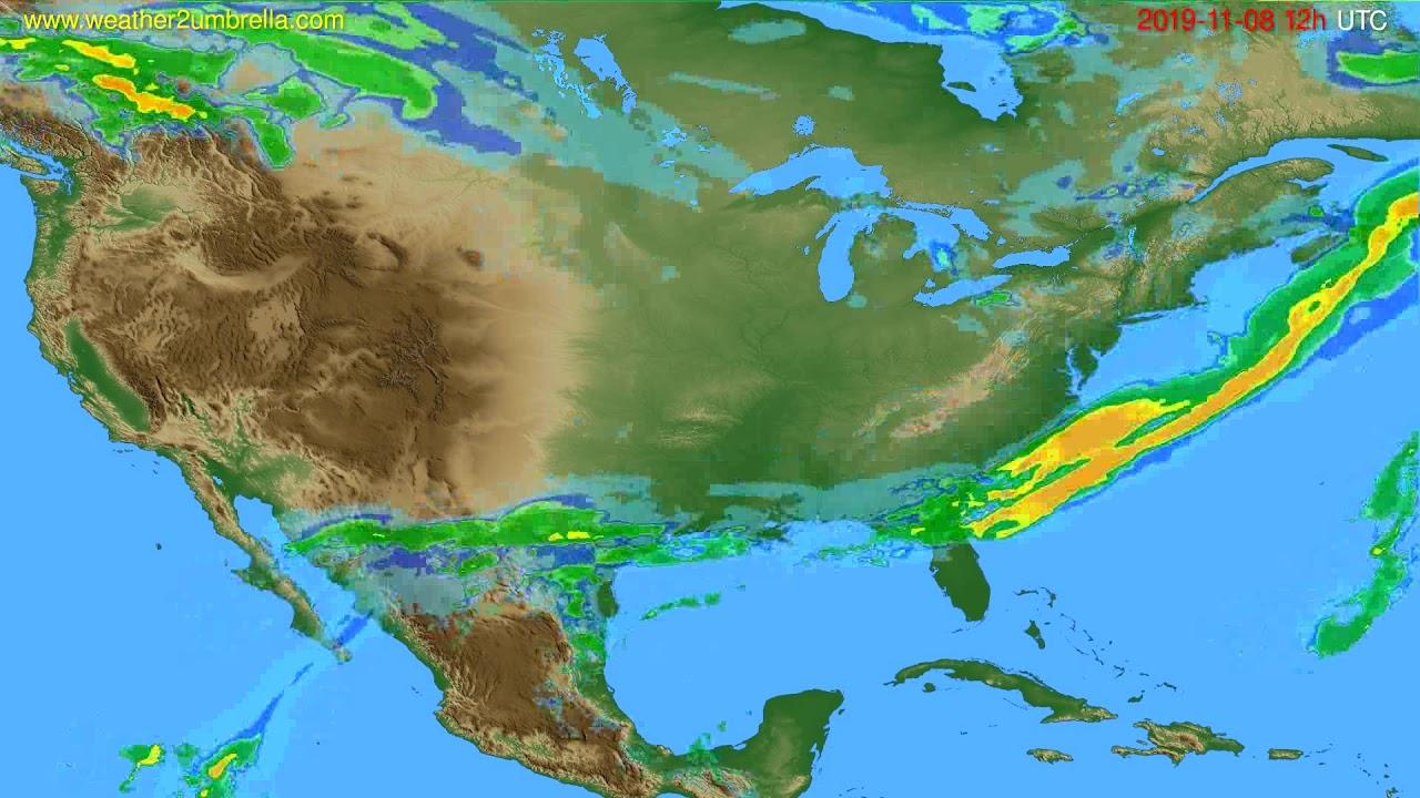 Radar forecast USA & Canada // modelrun: 00h UTC 2019-11-08