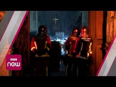 Bên trong Nhà thờ Đức Bà Paris sau hỏa hoạn | VTC Now - Thời lượng: 0:41.