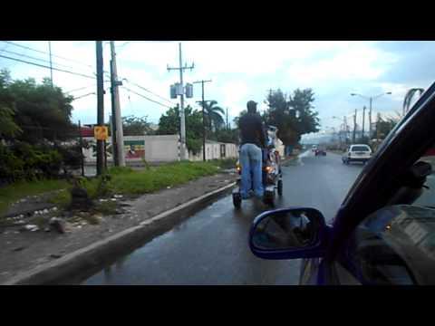 Motorized handcart in Jamaica