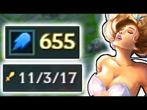 600+ AP JANNA SUPPORT CARRY IN MASTER / CHALLENGER ELO? WHAT HAPPENED THIS GAME?? (видео)