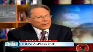 NRA chief Wayne LaPierre on NBC's Meet The Press