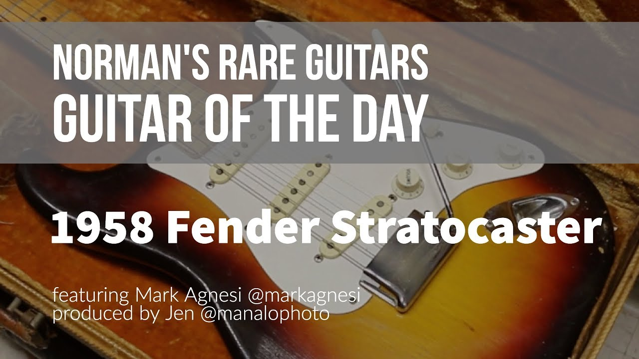 Norman's Rare Guitars – Guitar of the Day: 1958 Fender Stratocaster Sunburst