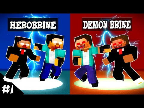 AMONG US THE IMPOTOR PART 1 : HEROBRINE BECAME DEMON - MONSTER SCHOOL