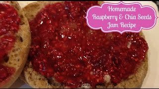 How To Make Homemade Raspberry&Chia Seeds Jam Recipe