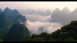 Beautiful YangShuo 阳朔 and GuiLin 桂林 from the air