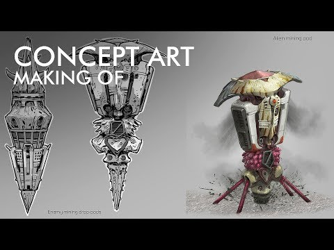 Devblog 6 – Pantropy Concept Art | Mining Pod