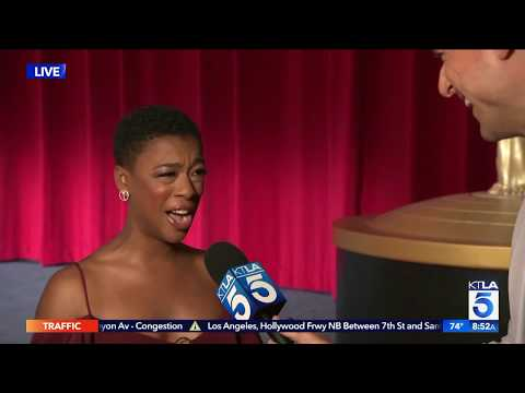 Doug Kolk Talks to Samira Wiley at the 2018 Emmy Nominations