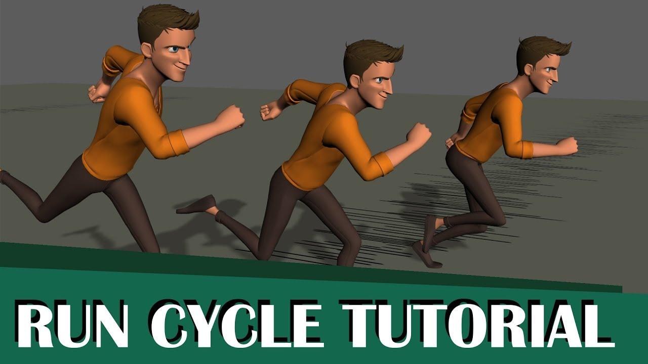 full run cycle tutorial using maya