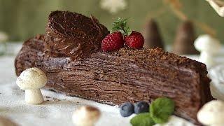 Como fazer bolo tronco de Natal
