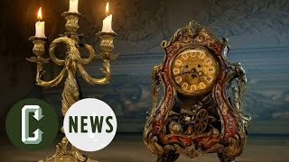 Beauty and the Beast Live-Action Images Reveal Lumiere & Cogsworth   Collider News by Collider