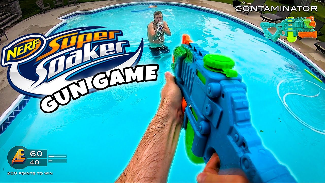 NERF GUN GAME | SUPER SOAKER EDITION (Nerf First Person Shooter) - YouTube