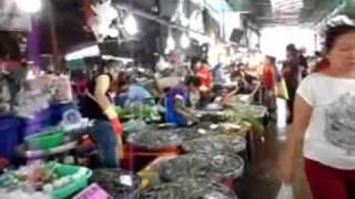 Samut Prakan Market, Fresh Seafood, And Thai Food, Samut Prakan, Thailand.