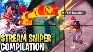 Best Fortnite 'Stream Sniper' Compilation! #4