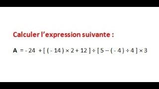 Maths 5ème - Les nombres relatifs repérage Exercice 9