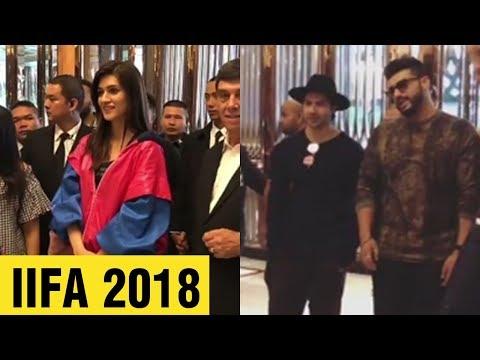 IIFA 2018 : Varun Dhawan, Arjun Kapoor, Kriti Sano