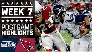 Seahawks vs. Cardinals (Week 7) | Game Highlights | NFL by NFL