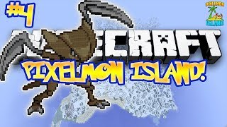 """FIRST KABUTOPS!"" - PIXELMON ISLAND ADVENTURE! (Minecraft Pokemon Mod) - #4"