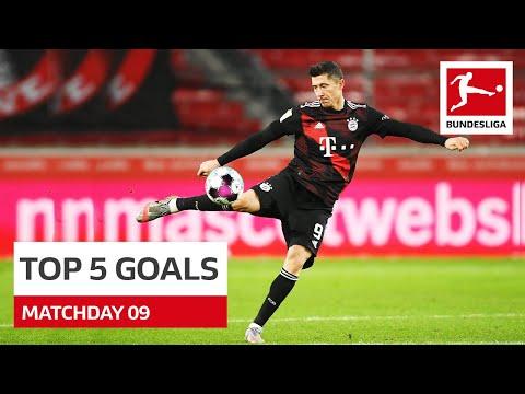 Top 5 Goals - Lewandowski, Angeliño & Co. | Matchday 9 - 2020/21 видео