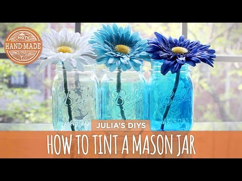 How to: Tint Mason Jars – HGTV Handmade