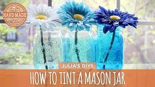 How to: Tint Mason Jars - HGTV Handmade - YouTube