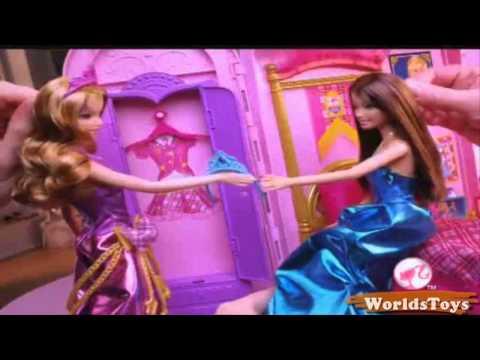 2011 º BARBIE™: PRINCESS CHARM SCHOOL Royal Bed & Bath Playset Commercial