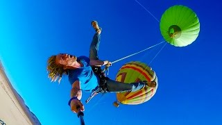 Epic Hot Air Balloon Rope Swing in 4K   DEVINSUPERTRAMP