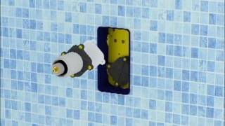 Installation of the external parts of the taps – thermostatic shower, 1 outlet