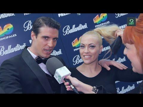 Uri Sabat y Daniela Blume en los Premios 40 Principales 2014