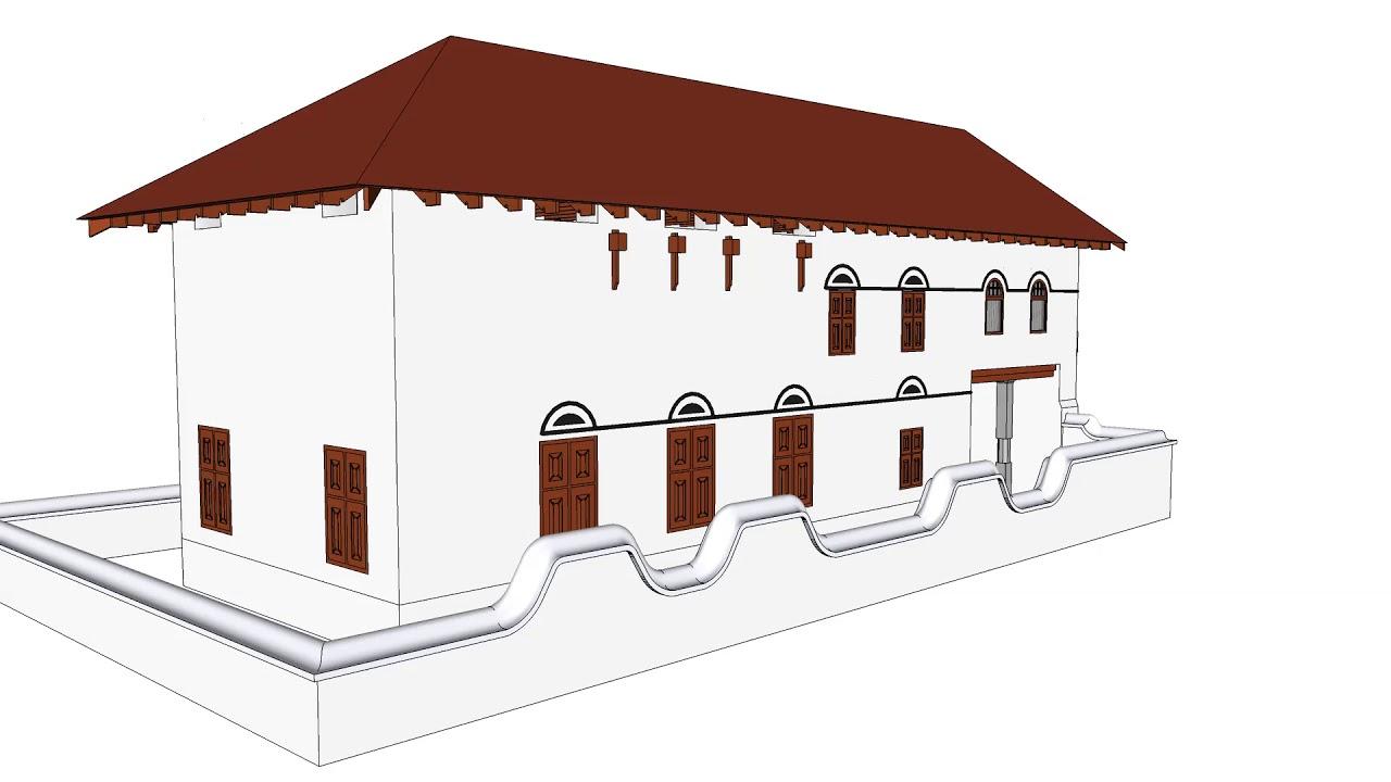 ചേന്ദമംഗലം സിനഗോഗിന്റെ 3D മാതൃക