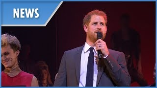 Prince Harry on stage at musical 'Bat Out of Hell'
