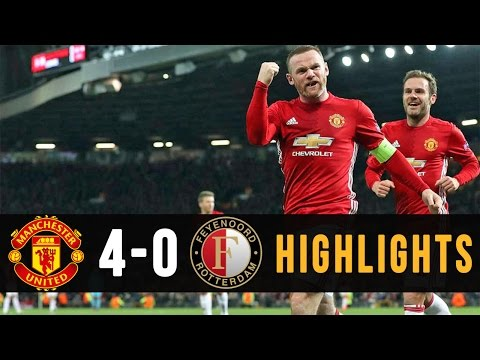 MANCHESTER UNITED VS FEYENOORD ● HIGHLIGHTS 2016/17 ● UEFA EUROPA LEAGUE