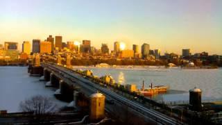 Sunset Time-Lapse Over Longfellow Bridge - Feb 11, 2014