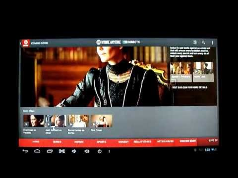 Testing Showtime Anytime App On Android 4.2 HDMI TV Box