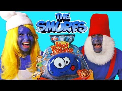 The Smurfs Play Hot Potato ! || Blind Bag Show Ep82 ||Konas2002