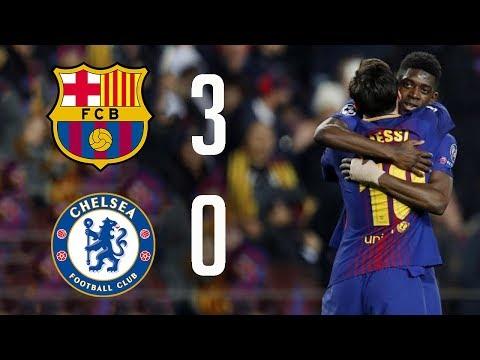 Barcelona VS Chelsea 3-0 All Goals- Champions League 14-03-2018