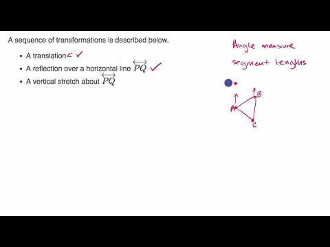 Sequences Of Transformations Video Khan Academy